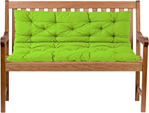 ZJHTK Garden Bench Cushion, 2 Seaters Bench Cushion Outdoor Seat Cushions Soft Pad Breathable Patio Mat Furniture Swing Chair Cushion