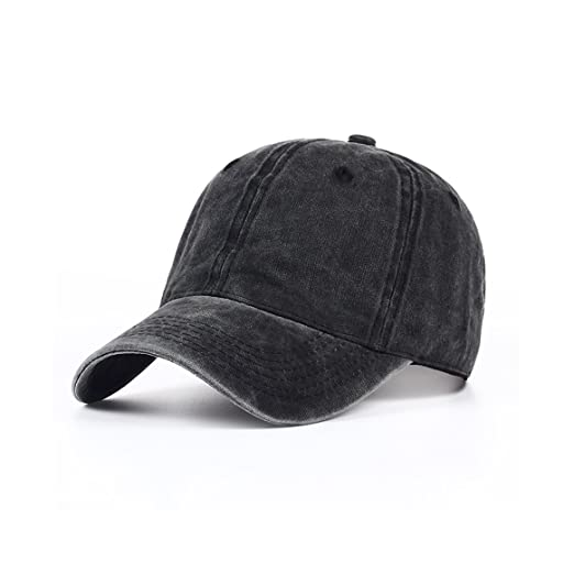 84ea542a602 Eohak Kids Baseball Hat Washed Low Profile Cotton and Denim Plain Baseball  Cap Hat, Age