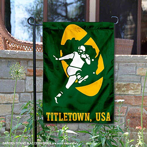 (WinCraft Green Bay Packers Titletown USA Double Sided Garden Flag)