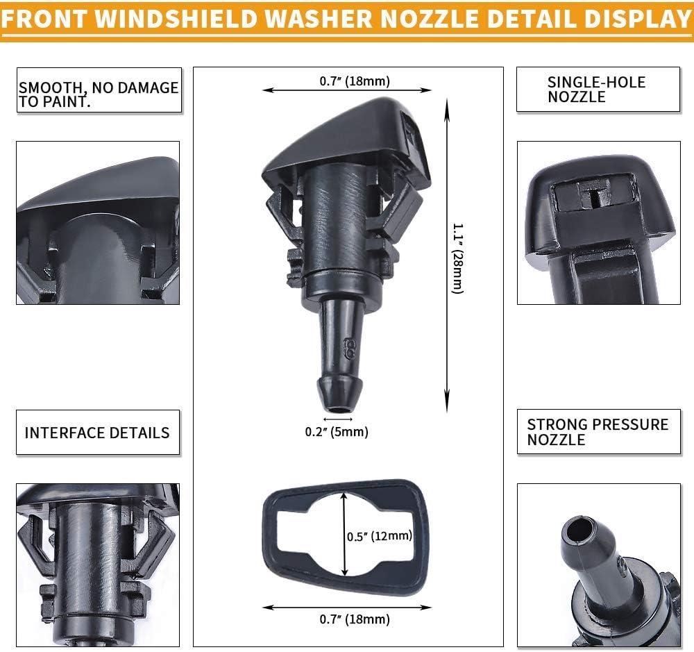 Pack of 2 2002-2010 Dodge Dakota 1998-2010 VW Beetle 21 Windshield Wiper Blades for 2005-2013 Chevrolet Corvette MIKKUPPA Front Wiper Replacement 21