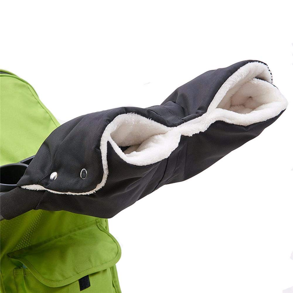 Gspirit Bambino Passeggino Guanti Mano Manicotto Antigelo Di spessore Impermeabile Più caldo per Inverno (marrone)