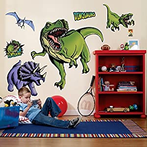 Dinosaurs Giant Wall Decals Dinosaur Wall Stickers Amazoncom - 3d dinosaur wall decals