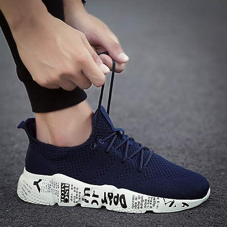 Hasag Tallas Grandes Zapatos para Correr Zapatillas Deportivas Transpirables Tallas Grandes Entrenador Zapatos Deportivos atléticos Calzado,Azul,7: Amazon.es: Deportes y aire libre