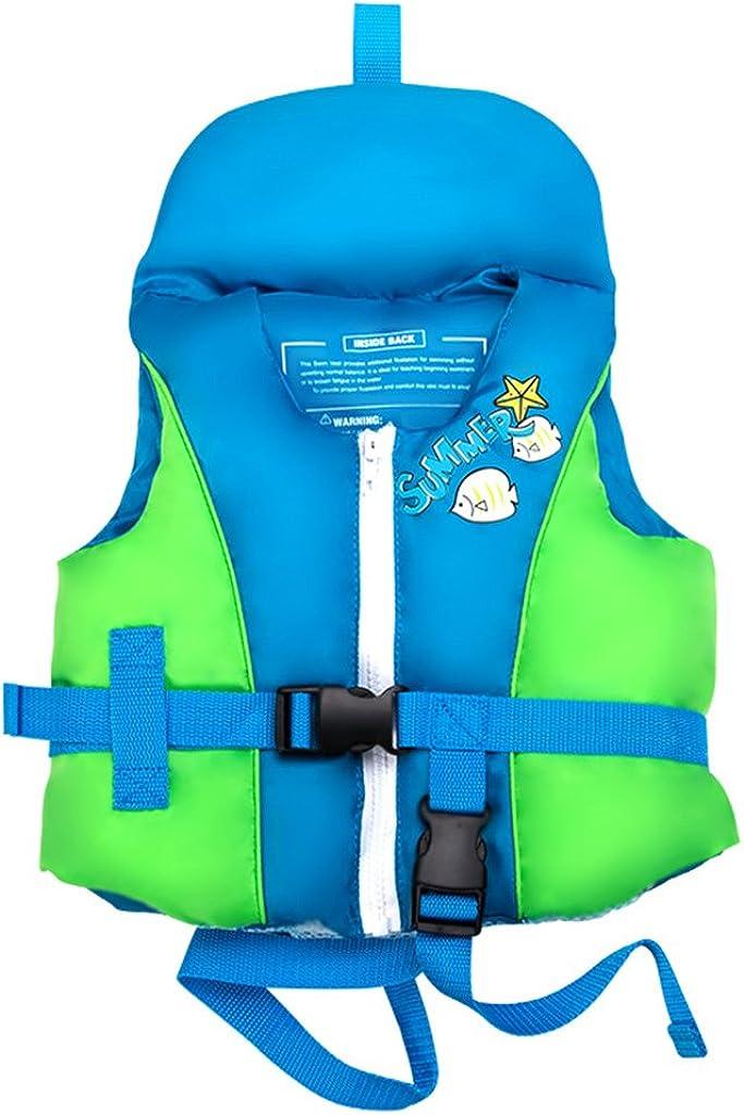 Gogokids Kids Swim Float Vest - Toddler Baby Floating Jacket Swimsuit 1-4 Years Blue