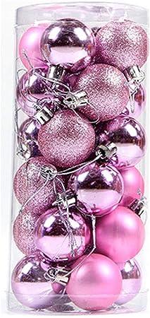 Boules De No/ël Incassable D/écorations Darbres De No/ël pour No/ël D/écor De Mariage De Noel Ornements Crochets Inclus Violet, 40mm