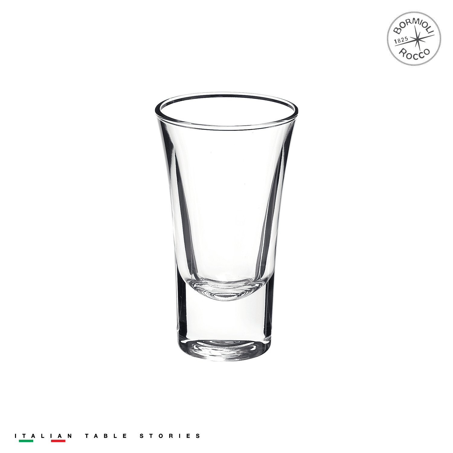 Bormioli Rocco Dublino Collection Shot Glasses - Set of 6 Clear Shot Tumblers With Heavy Base – 2-Ounce Shooter Glass For Spirits & Liquors – Classic European DesignDrinkware For Bar, Pub & Home Use