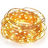 Kohree 120 Micro LEDs Christmas string Light Battery Powered on 40ft Long Ultra Thin String Copper Wire, Decor Rope Light with Timer Perfect for Weddings, Party, Bedroom, Xmas-2C Batteries powered