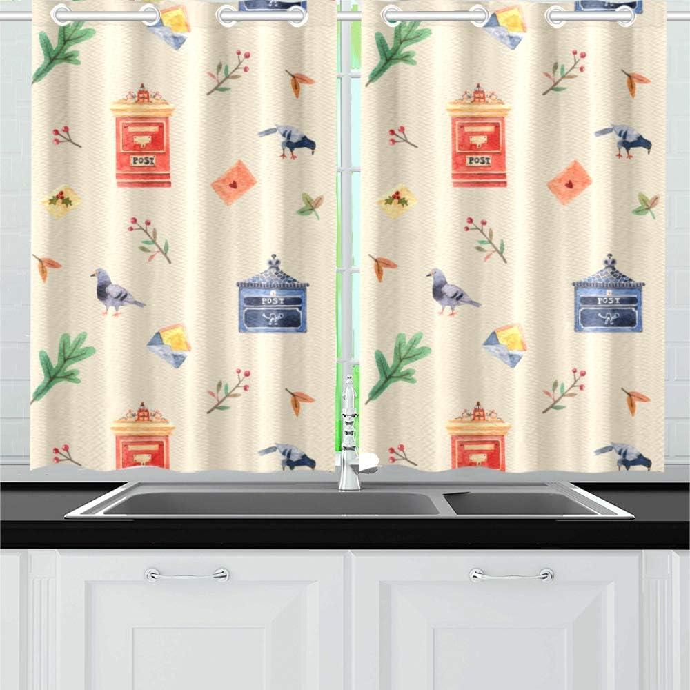Amazon.com Letter Box Hand Painted Ideas Kitchen Curtains Window ...