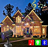 Masterpiece City Bluetooth Speaker Music Laser Light, Red Green and Blue, Indoor and Outdoor, IP65 Waterproof, Christmas, Birthday, Wedding, Parties, All Occasions