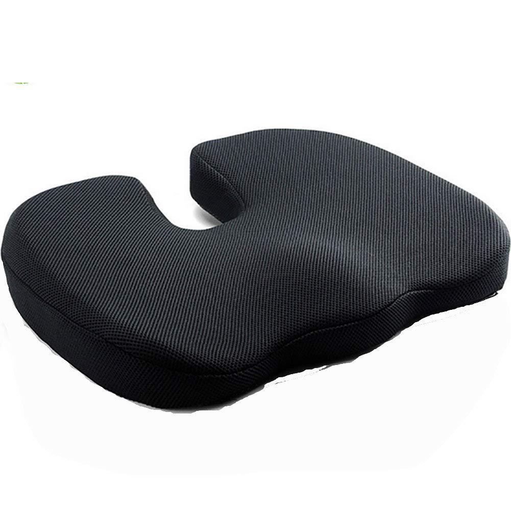 Premium Comfort Seat Cushion Non-Slip Orthopedic Memory Foam for Tailbone Pain (45  37  5Cm)