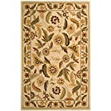 Safavieh Chelsea Collection HK43A Hand-Hooked Ivory Wool Area Rug, 2-Feet 9-Inch by 4-Feet 9-Inch