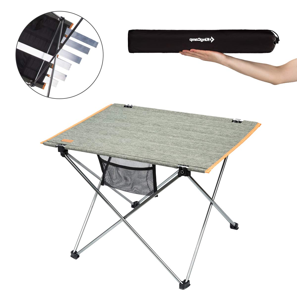 KingCamp Ultralight Compact Folding Camping Aluminum Table with Carry Bag