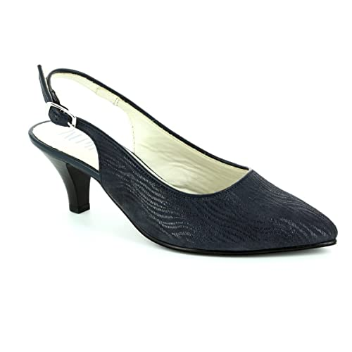 47 Alto Para Mujer Zapatos De Latina Azul Marino Alpina Tacón 9l31 8n0mwN