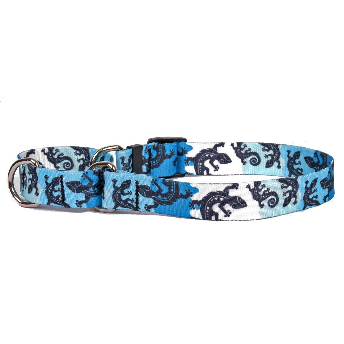 Yellow Dog Design Martingale Slip Collar, Geckos Teal, Large 27''
