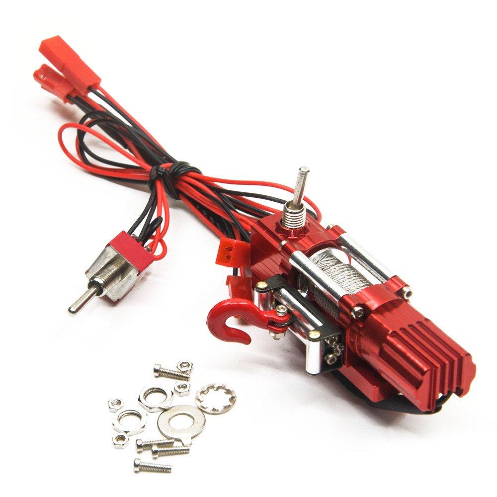 1/10 Rod Metall Stahl Seilwinde Automatic Wired Winde Control System für 1:10 RC Auto Klettern, Crawler, Truck XUNJIAJIE