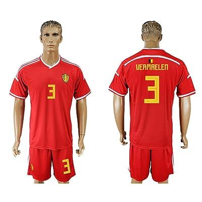 2018 World Cup Belgium National Team #3 Soccer Jersey