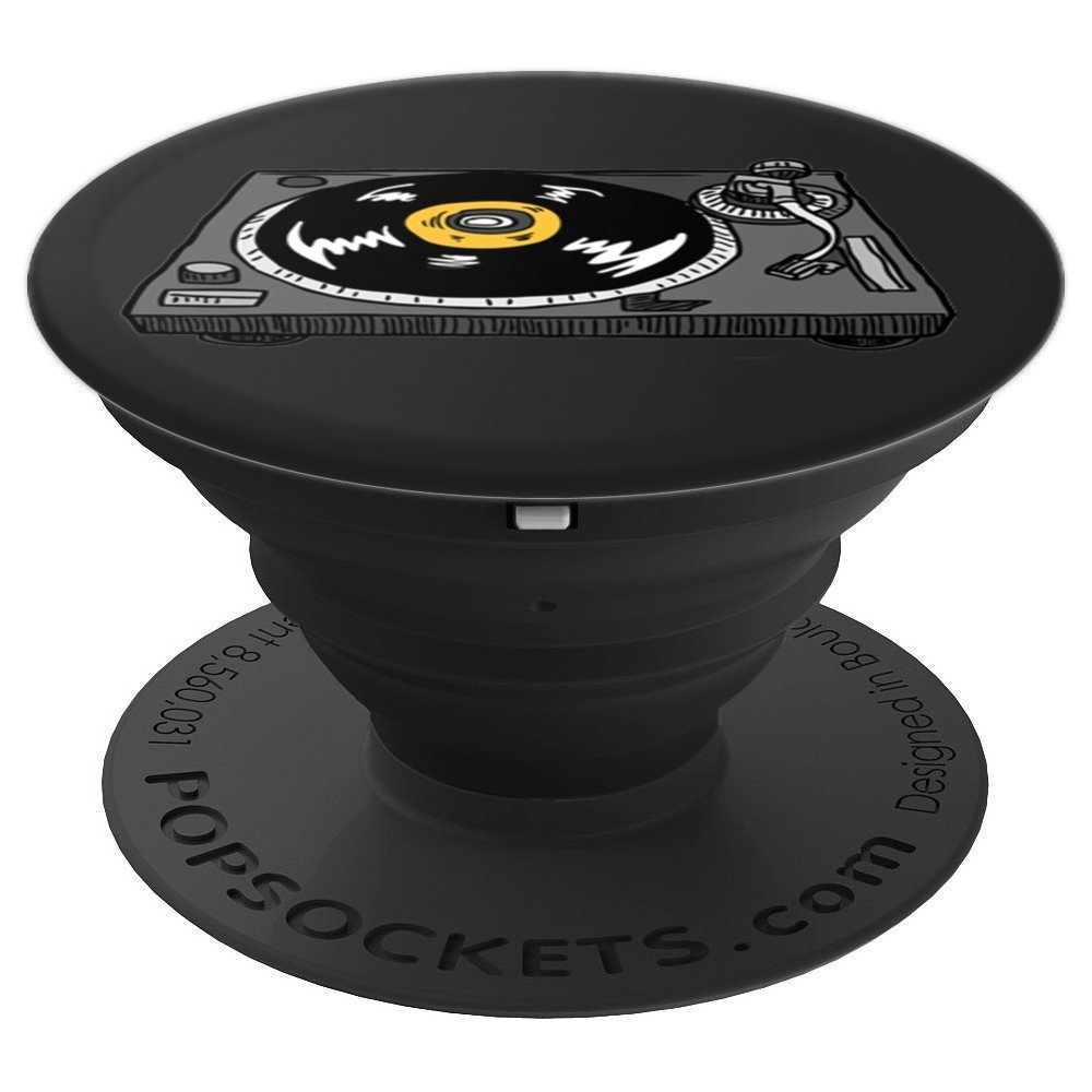 PopSockets: Turntable - Gifts For Turntable Player - PopSockets Grip and Stand for Phones and Tablets