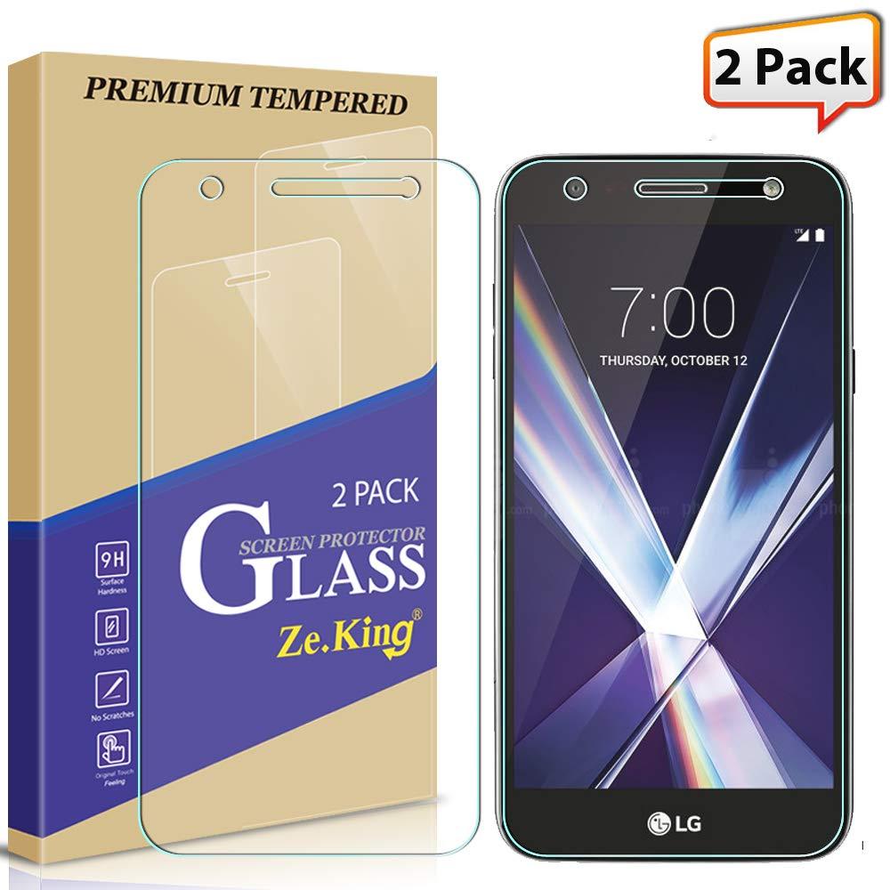 [2-Pack] LG X Charge/LG Fiesta LTE/LG X Power 2 Tempered Glass, Zeking 0.33mm 2.5D Edge 9H Hardness [Anti Scratch][Anti-Fingerprint] Bubble Free, Lifetime Replacement Warranty