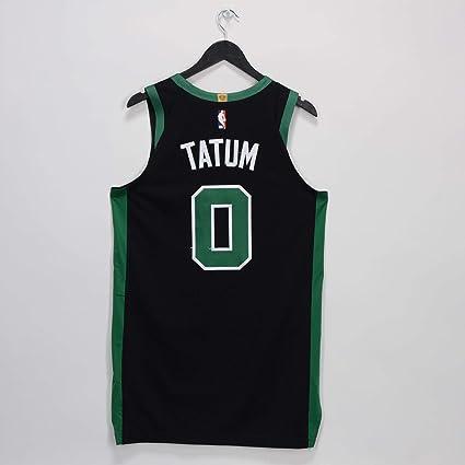 timeless design 89433 851f8 Jayson Tatum Boston Celtics Game-Used #0 Black Jersey vs ...