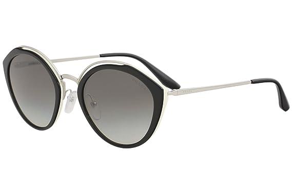 Prada 0PR 18US, Gafas de Sol para Mujer, Black/Ivory/Silver ...