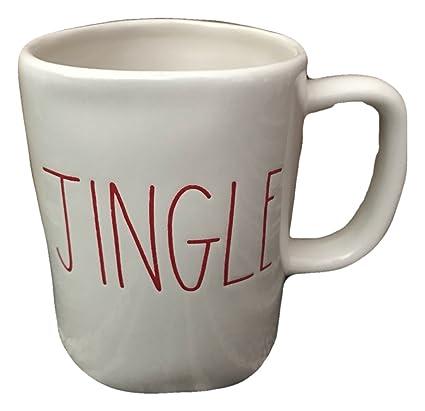Amazon Com Rae Dunn By Magenta Ceramic Christmas Holiday Jingle Cup
