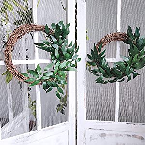 Supla 2 Pack 11.4' Silk Hanging Willow Jungle Leaves Greenery Vines Garland Fake Willow Twigs String in Green for Indoor Outdoor Wedding Decor Jungle Party Crowns Wreath 5