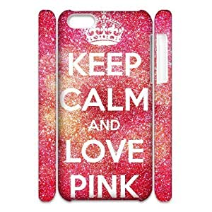 MMZ DIY PHONE CASEALICASE Diy 3D Protection Hard Case Love Pink For ipod touch 5 [Pattern-1]