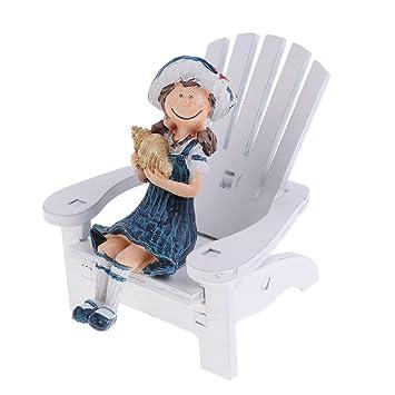Sharplace Puppen Haus Miniatur Garten Liegestuhl Holz Stuhl Zubehör