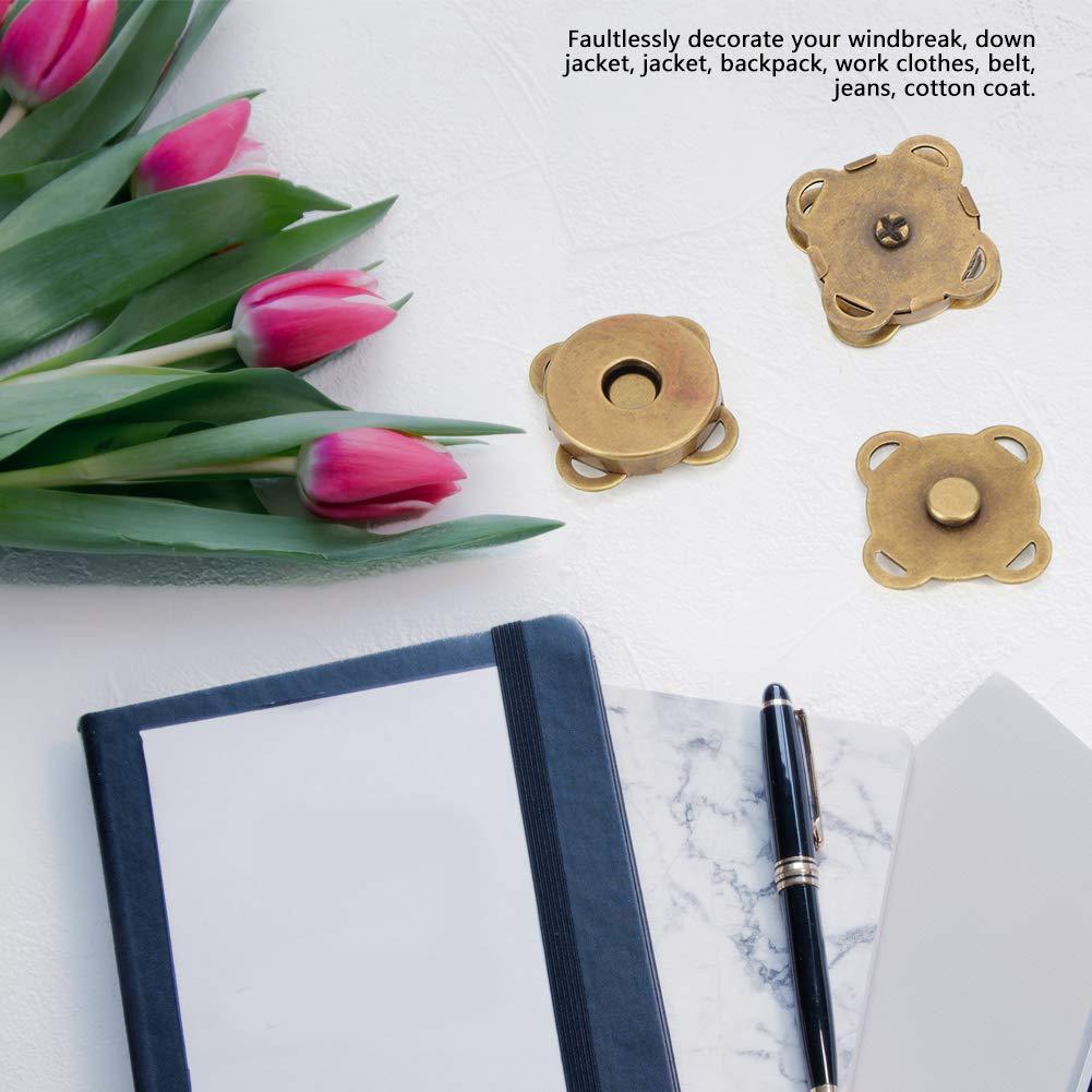 Blanc brillant18.5mm HEEPDD 10 pcs 18.5mm magn/étique Fermoir /à Bouton Pression pour la Couture Artisanale Sacs /à Main Sacs v/êtements en Cuir