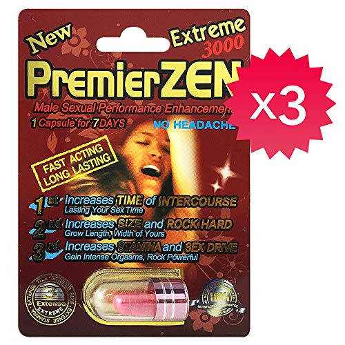 (3-Packs) PremierZen Extreme 3000mg Male Enhancement Pill - Fast US Shipping