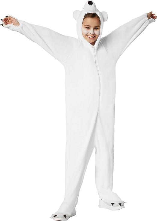 dressforfun 900322 - Disfraz de Oso Polar para Niño, Capucha con ...