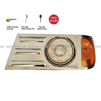 Amazon com: Headlight Chrome - Driver Side (Fit: Mack Granite CV713