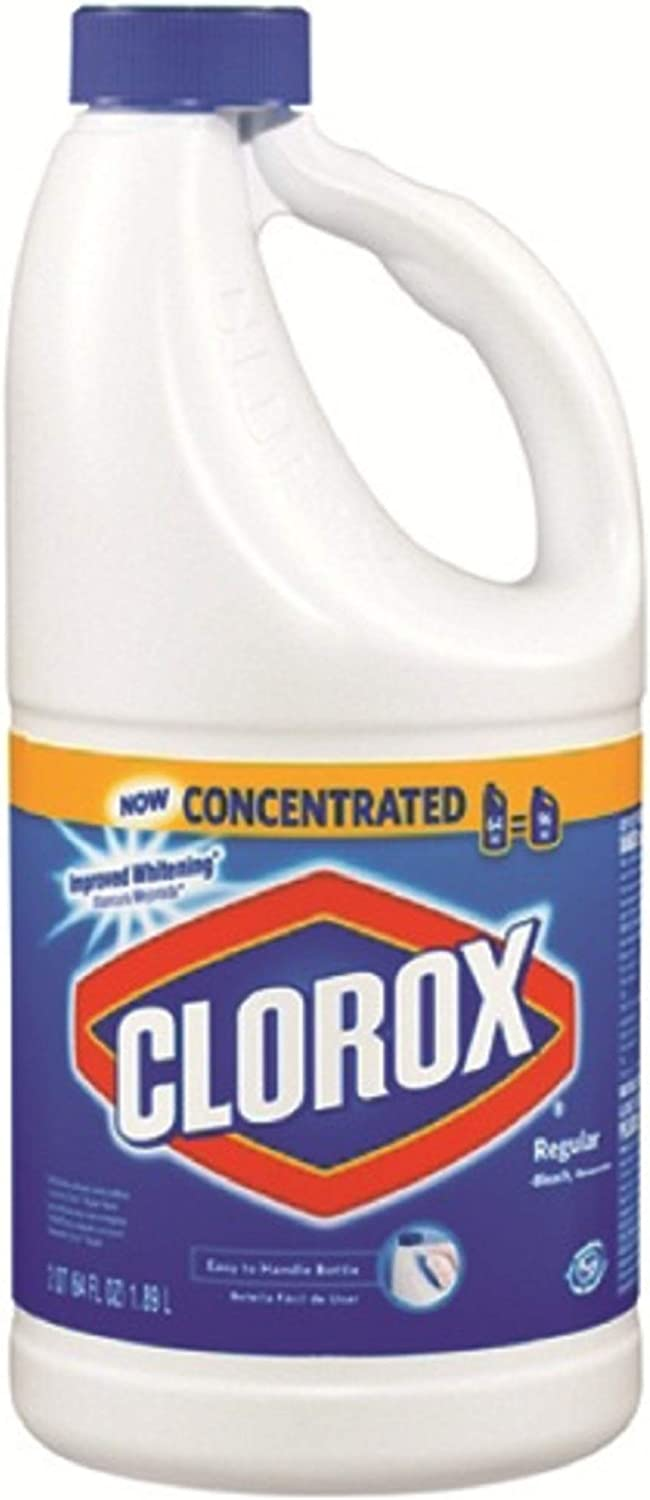 Clorox Concentrated Regular Liquid Bleach 64 oz (Pack of 8)