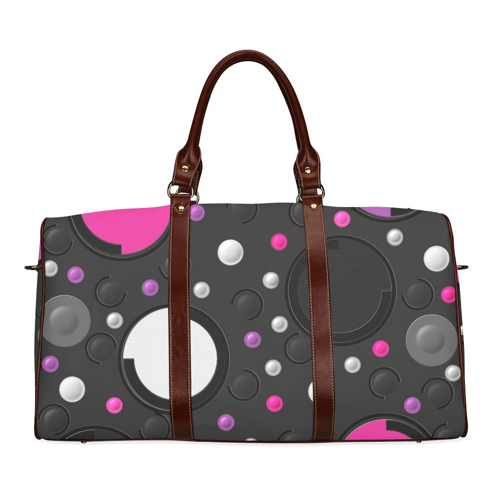 Circle Custom Waterproof Travel Tote Bag Duffel Bag Crossbody Luggage handbag