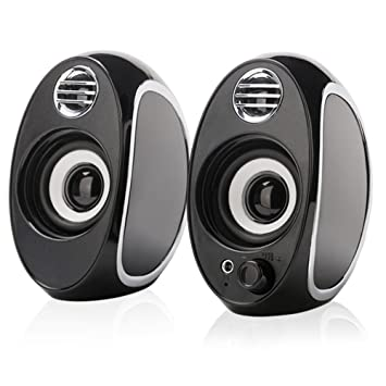 Review TuparGo DX18 USB Powered Computer Speakers,10W Peak Power Apply to Any 3.5mm Port-equipped Media Players(Black)