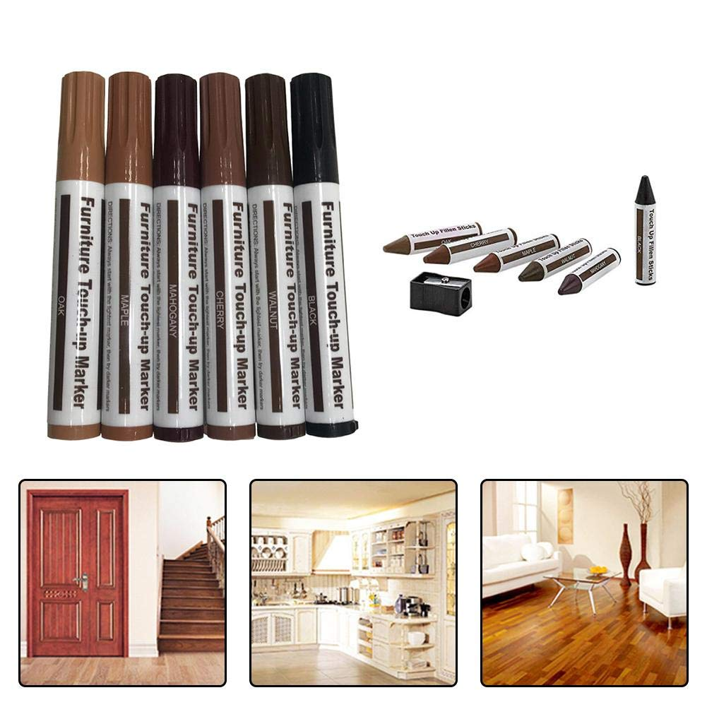 Seasonaliy Furniture Touch Up Pen Wood Grain Color Pen Color Repair Mark Floor Repair Repair Scratch Off Paint Complementary Color Wax Package