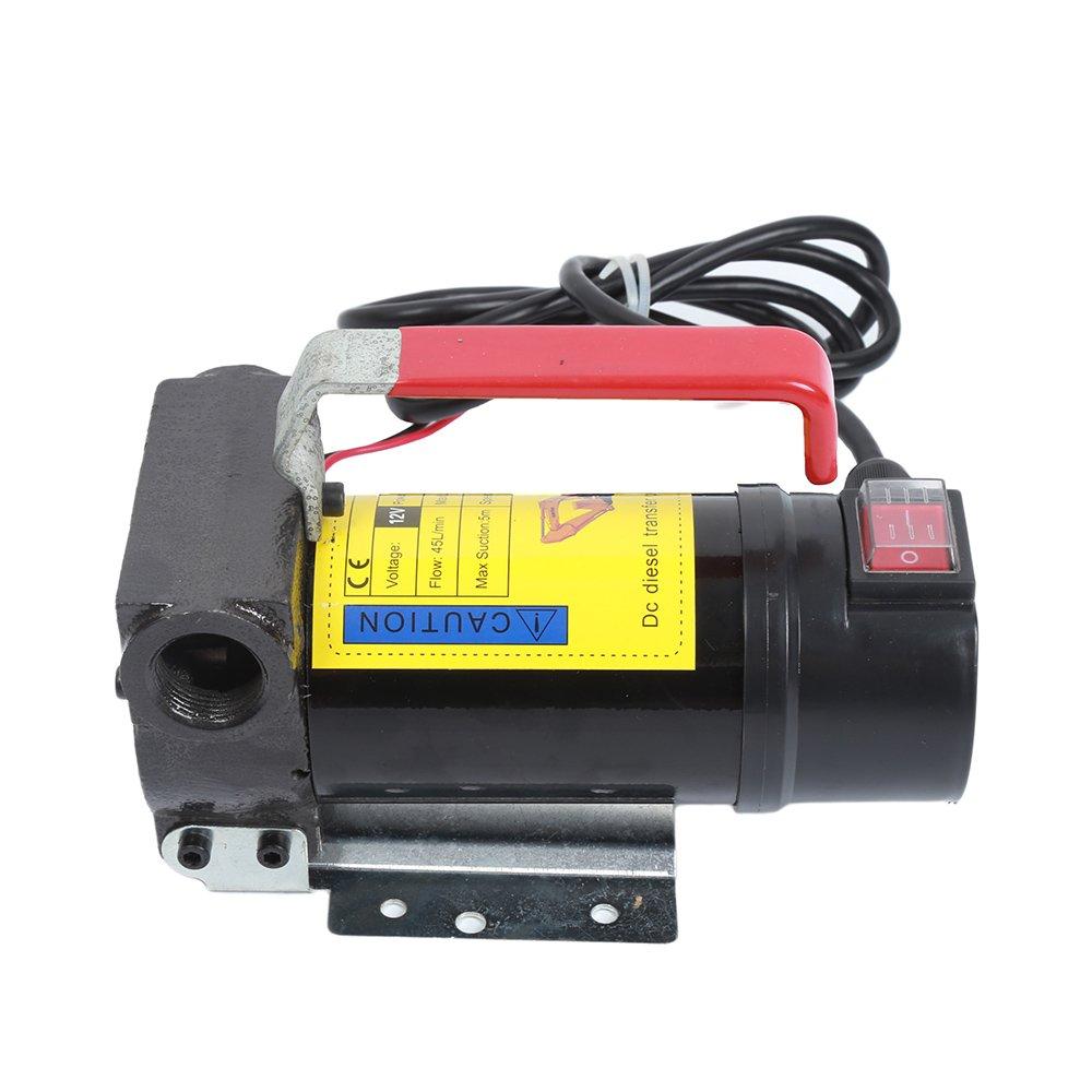 12V 45L//min Dieselpumpe Heiz/ölpumpe /Ölabsaugpumpe,Selbstansaugend Pistole Pumpe