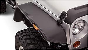 Bushwacker 10053-07 Jeep Flat Style Fender Flare - Front Pair