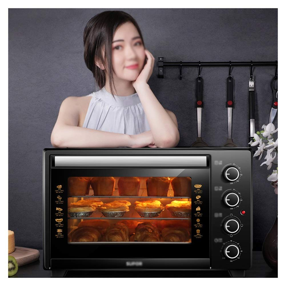 OPPALE Ovens-Mini Oven With Grill,Includes Grill Rack & Baking Tray 35 Litre Fast Heating Toaster Oven,Cooking Functions -Toaster Ovens