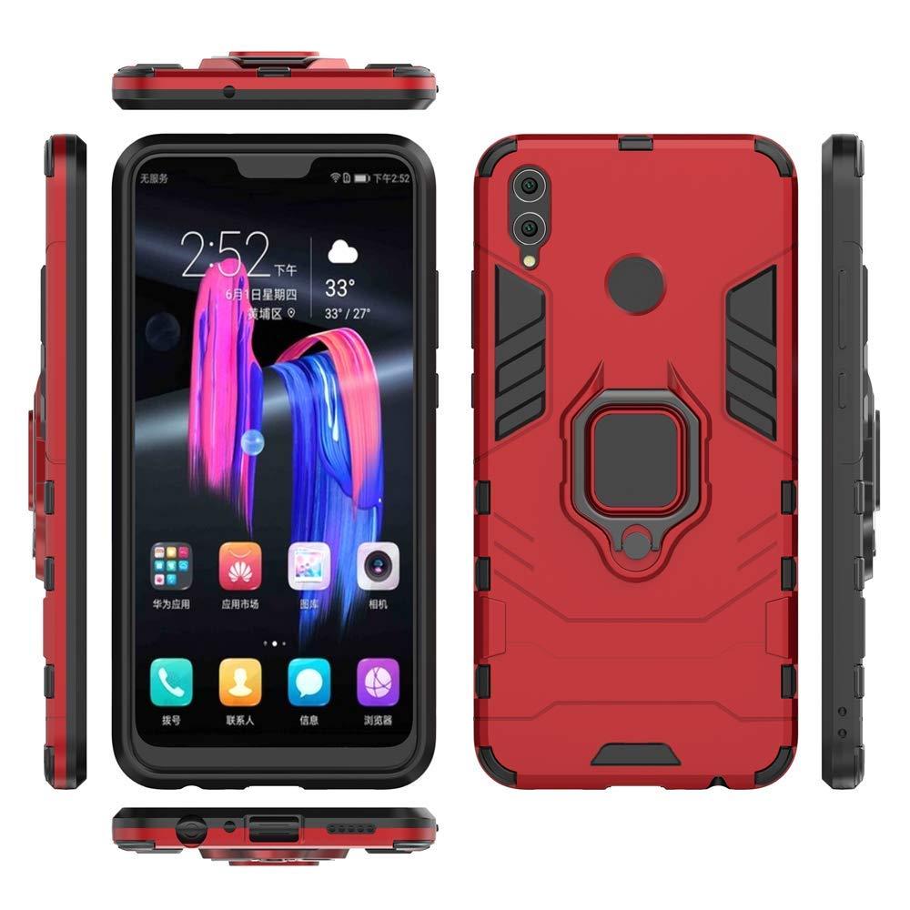 MHHQ 2in1 Armadura Combinaci/ón A Prueba de Choques Escudo C/áscara Dura PC Huawei Mate 20 Funda Red TPU con Soporte Magnetic Car Mount Case Cover para Huawei Mate 20