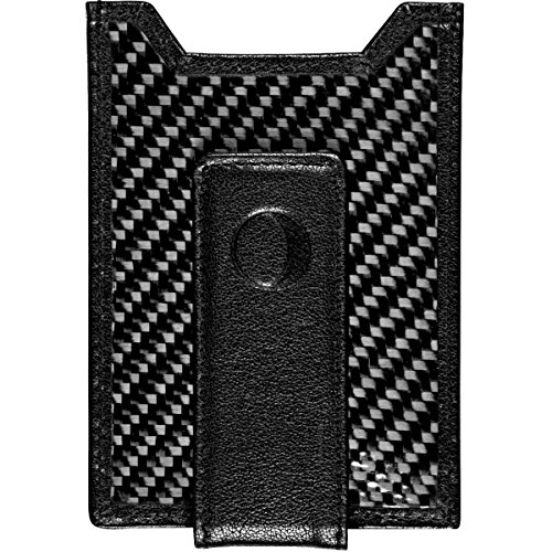 Tie Peace Out - Best Money Clip and Front Pocket Wallet for Men - Carbon Fiber & Leather with Credit Card Holder & ID Case - RFID Blocking ... (Black)