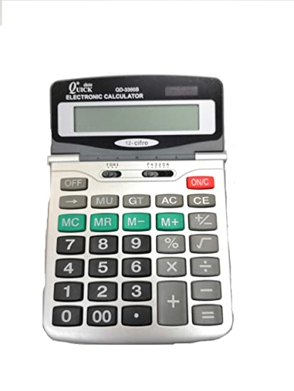 Calculadora Quick Data de mesa 12 dígitos Batería/Solar Formato ...