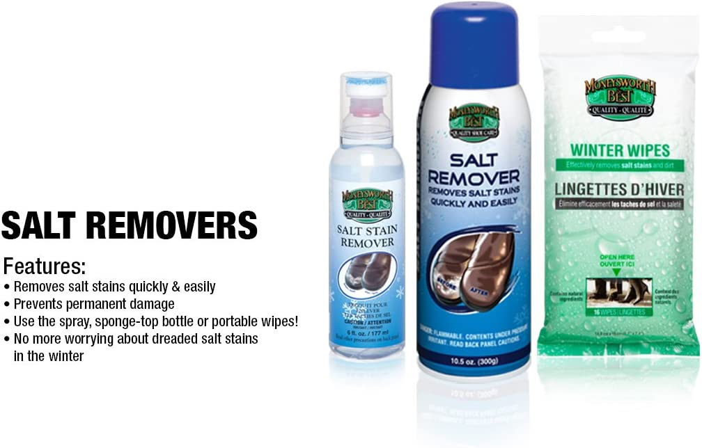 Moneysworth and Best Shoe Care Salt Stain Remover, 6-Ounce: Sports & Outdoors