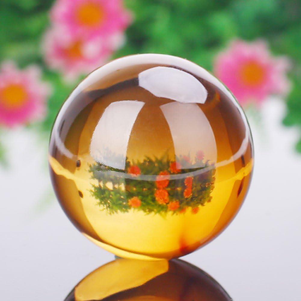 LISRUI Feng Shui Boule De Verre Cristal Boule De Cristal Mode 40mm 9 Couleur Figurines De Maison
