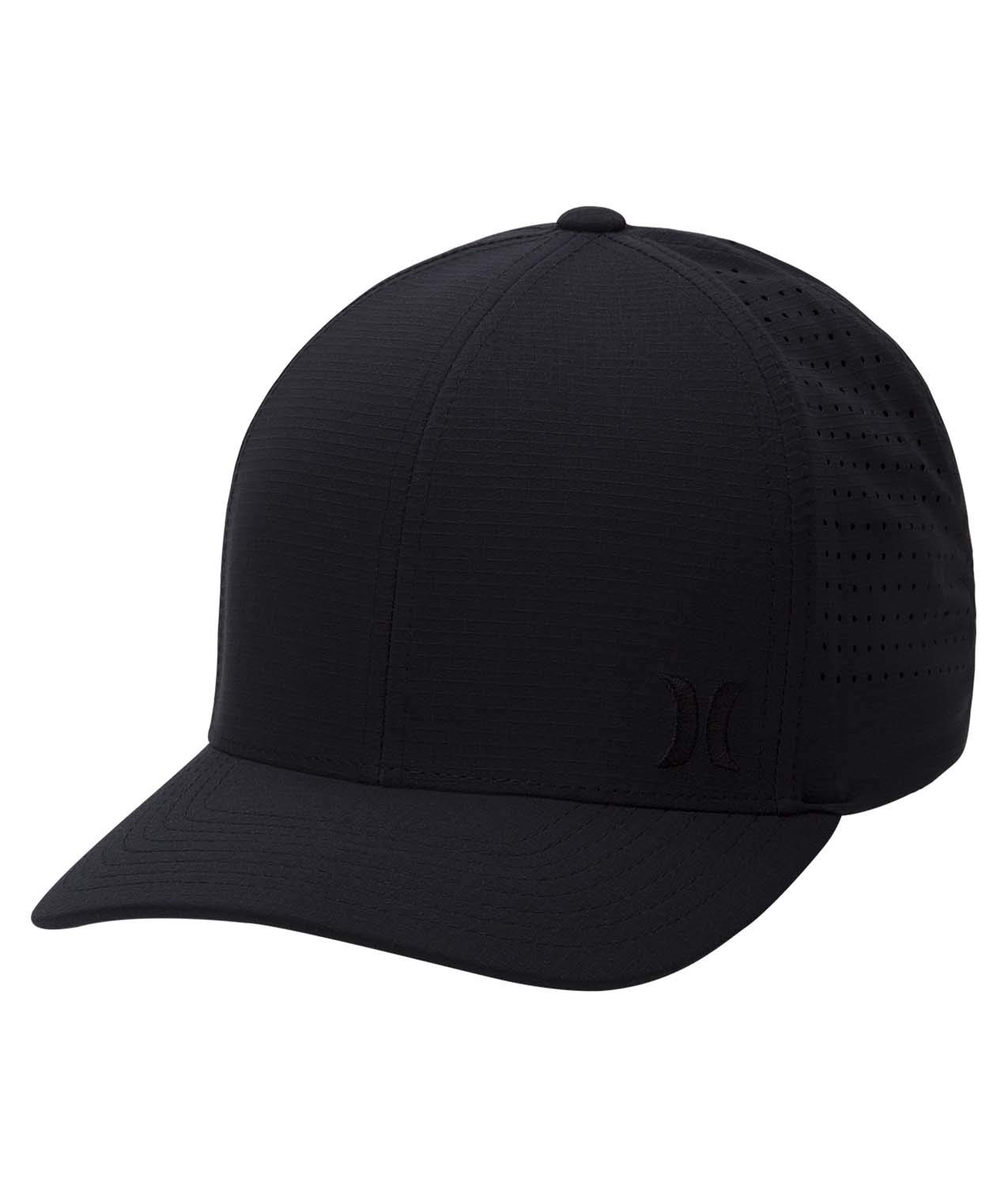 Hurley Men's Phantom Ripstop Curved Bill Baseball Cap, Black, L-XL
