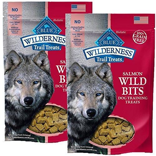 Cheap BLUE Wilderness Trail Treats Grain-Free Wild Bits Salmon Recipe Dog Treats 4-oz, Salmon Recipe / 2 Pack