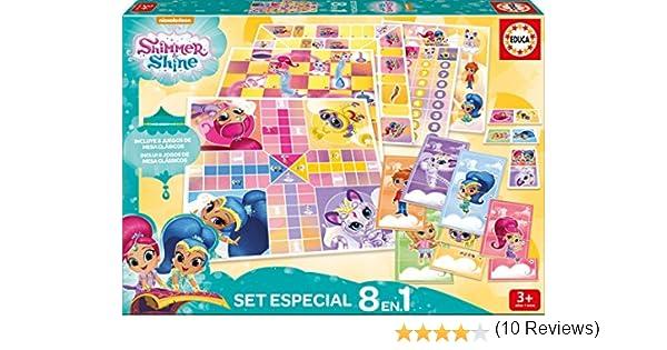 Educa Borrás- Shimmer&Shine Pack 8 Juegos Reunidos Shimmer and Shine Mesa (17718): Amazon.es: Juguetes y juegos