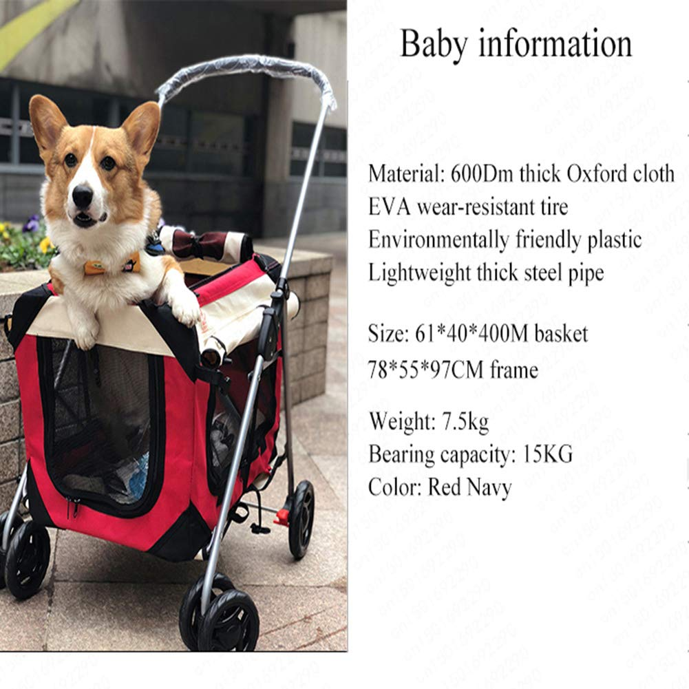 MFZJ Pieghevole Veloce Imbottito Pet Dog Handbag Kennel Car Dog And Cat Pet Passeggino Pieghevole Lavabile