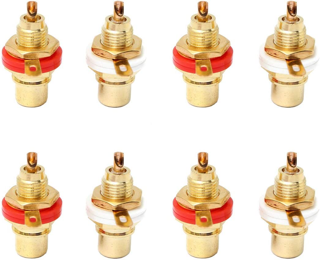 CMC 805-2.5AG FEMALE RCA Jack Terminal Connector Silver OFC Brass Sockets Lot*10