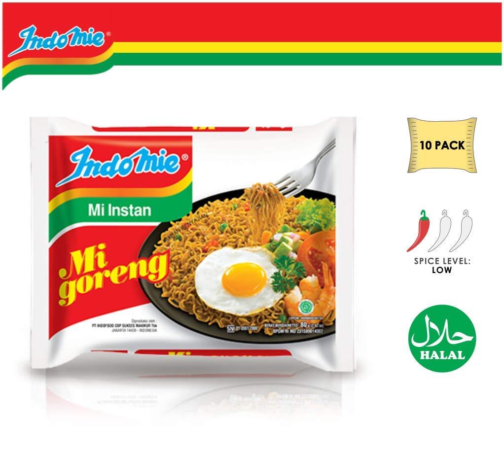 Indomie Mi Goreng Instant Stir Fry Noodles, Halal Certified, Original Flavor (Pack of